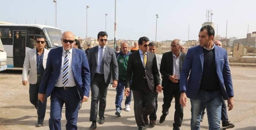 أشرف صبحي يصل الصالة المغطاة بالغردقة لمتابعة ختام فعاليات بطولة مصر للتايكوندو