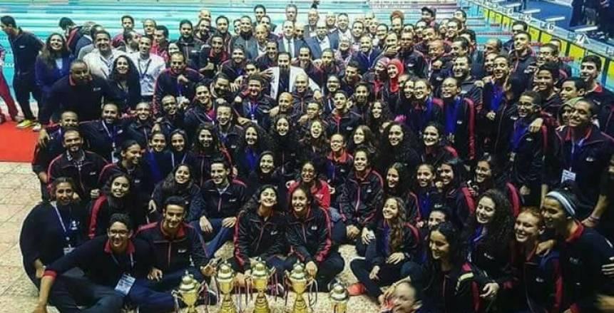 """النتائج الكاملة للبطولة العربية للسباحة للناشئين.. """"مصر البطل وتونس الوصيف"""""""