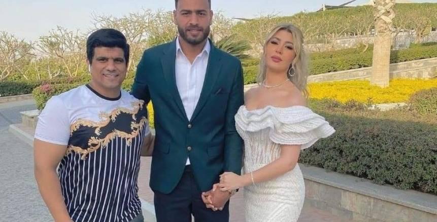 أبوجبل يعقد قرانه على ملكة جمال الجزائر قبل لقاء الزمالك وتونجيت «صور»