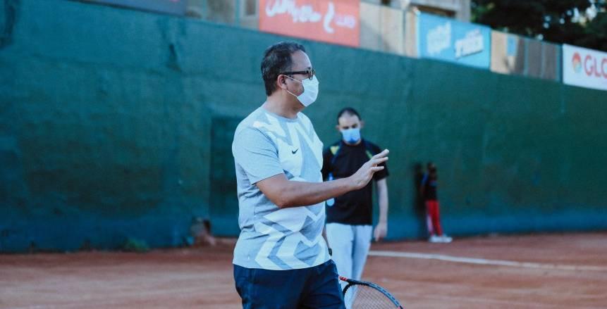 خالد فاروق: التنس الأرضي للأهلي يستعد بقوة للبطولات المحلية