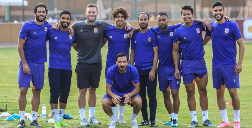 تدريب الأهلي إستعدادًا لمباراة المقاولون العرب