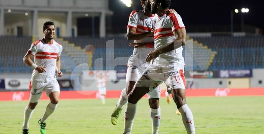 لقطات من فوز الزمالك على الداخلية بهدفين في الدوري المصري