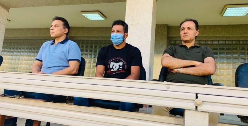 جهاز المنتخب يتابع مباراة بيراميدز والاتحاد الليبي بقيادة حسام البدري