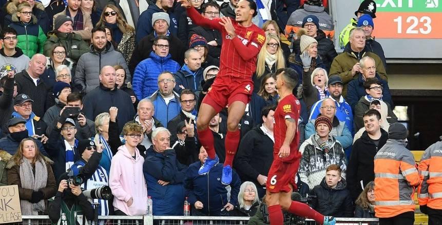 ليفربول يفوز على برايتون 2/1 في الدوري الإنجليزي