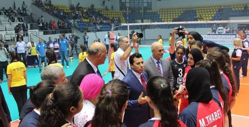 وزير الرياضة: منتخب ناشئات الطائرة قادر على إضافة إنجازا جديدا للرياضة المصرية