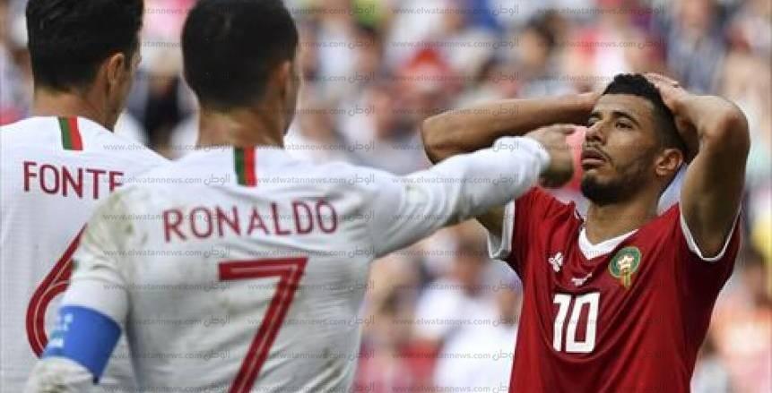صور مباراة البرتغال والمغرب