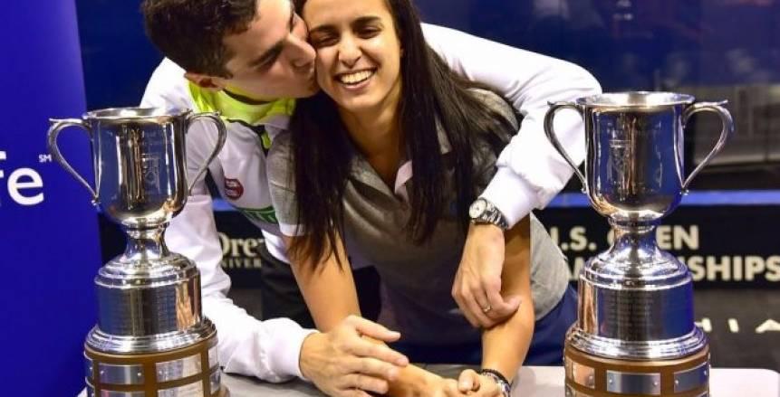 تأهل علي فرج ونور الطيب لربع نهائي بطولة مانشستر المفتوحة للإسكواش