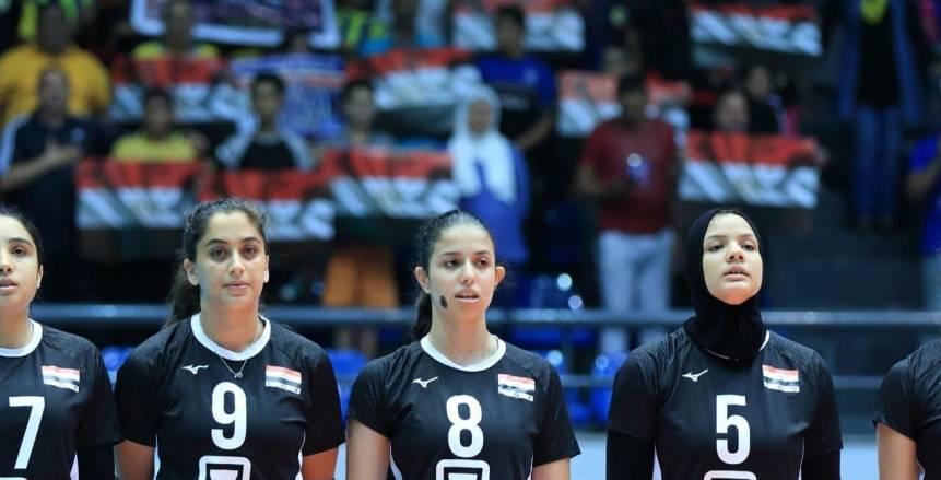 منتخب مصر يفوز على تايلاند ببطولة العالم لناشئات الطائرة وتواجه بلغاريا