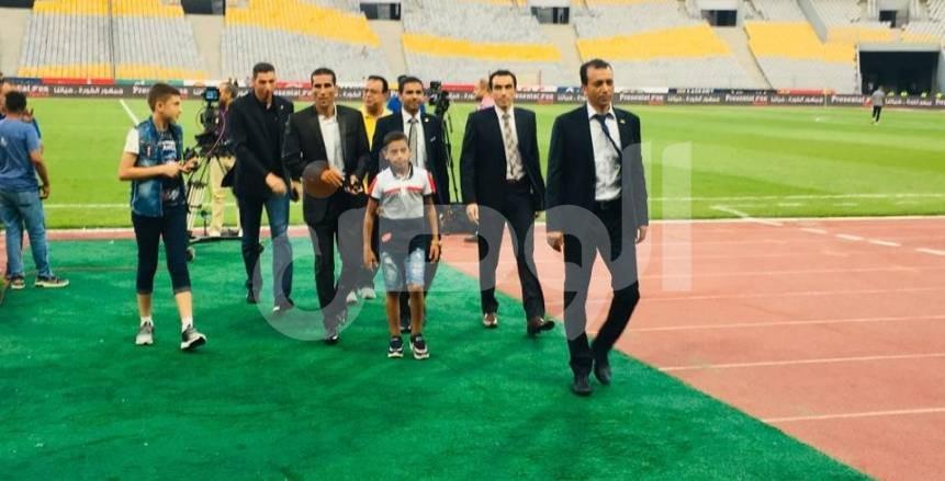 بالصور.. وصول الأهلي وبيراميدز لملعب برج العرب قبل مواجهة كأس مصر