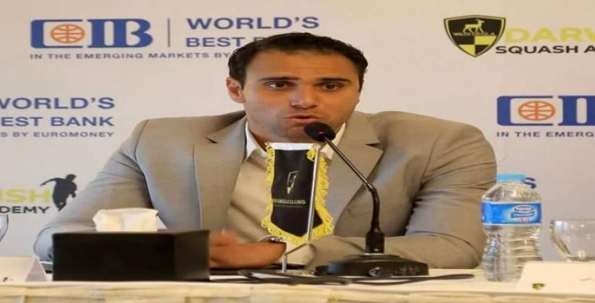 الأولمبية تهنئ كريم درويش لفوزه بمنصب نائب رئيس اتحاد الاسكواش الدولي