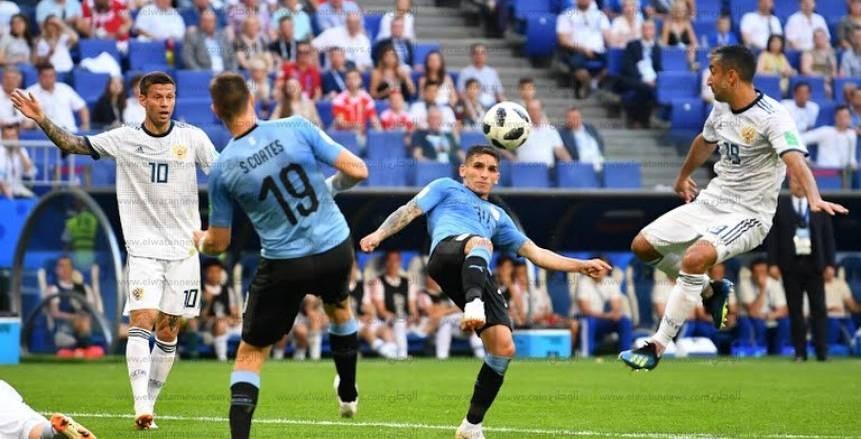 صور مباراة روسيا وأوروجواي