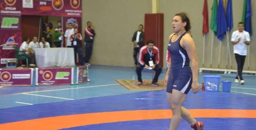 سمر حمزة تتوج بفضية بطولة التصنيف العالمي للمصارعة بـ روما