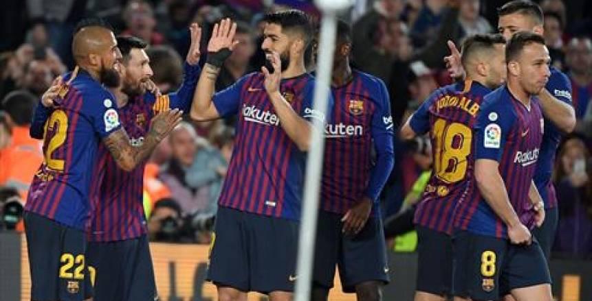 برشلونة يتعادل 2-2 مع إيبار في ختام الدوري الإسباني