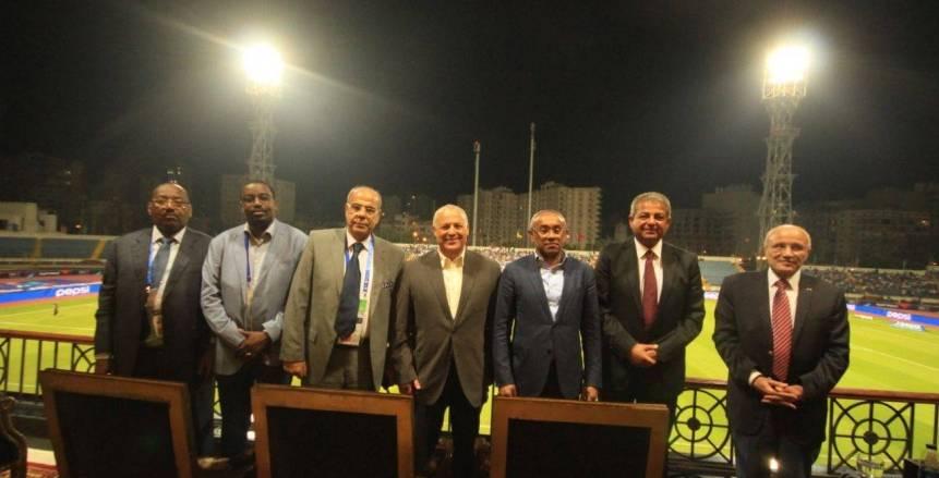 رئيس الاتحاد الافريقي لكرة القدم يحضر إفتتاح إستاد الاسكندرية