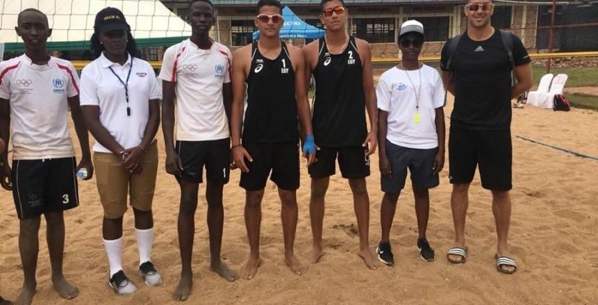 رجال الكرة الطائرة الشاطئية يتأهلون لنصف نهائي دورة حوض النيل