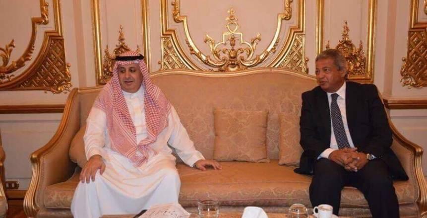 وزير الرياضة يلتقى رئيس الاتحاد العربي قبل المباراة النهائية للبطولة العربية