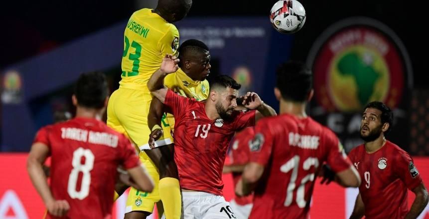 ملخص الشوط الأول بين منتخب مصر وزيمبابوي في افتتاح أمم أفريقيا