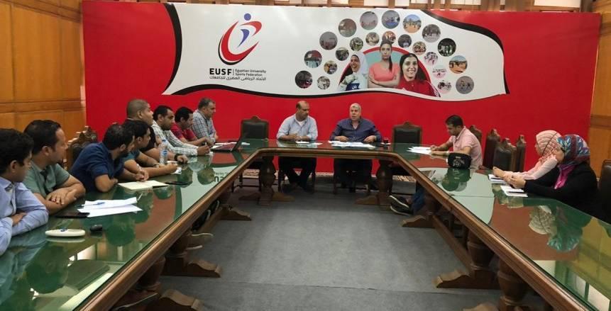 شوبير يرأس الاجتماع الأول للجنة الإعلامية لاتحاد الجامعات الرياضي