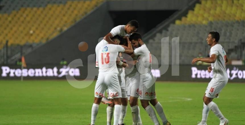 لقطات من فوز الزمالك على المصري بالدوري المصري