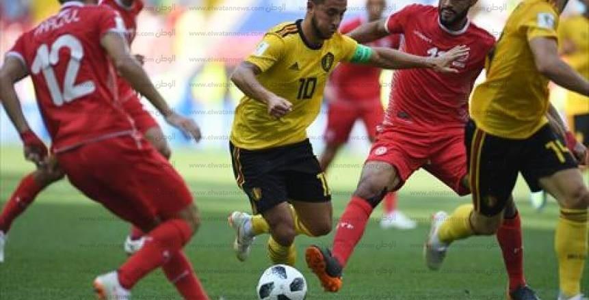صور مباراة تونس وبلجيكا