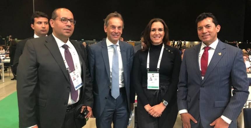 أنشطة موسعة لوزير الرياضة ورانيا علواني وإدريس على هامش مؤتمر مكافحة المنشطات