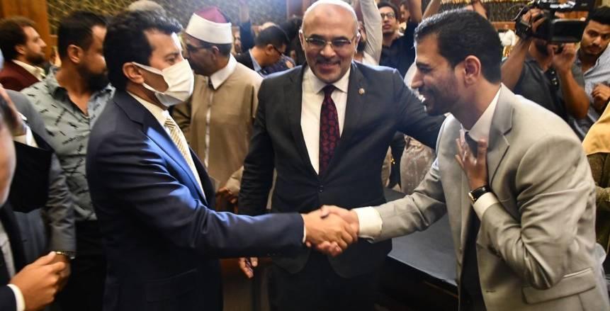زفاف جيانا فاروق بحضور أشرف صبحي وزير الرياضة
