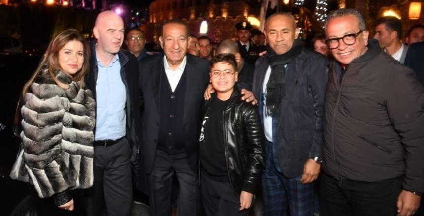 كواليس استقبال انفانتينو واحمد أحمد وماني في الغردقة ليلة حفل الافضل بـ2019