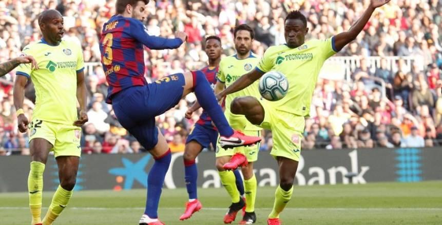 ثلاثي هجومي في تشكيل برشلونة أمام خيتافي بالدوري الإسباني