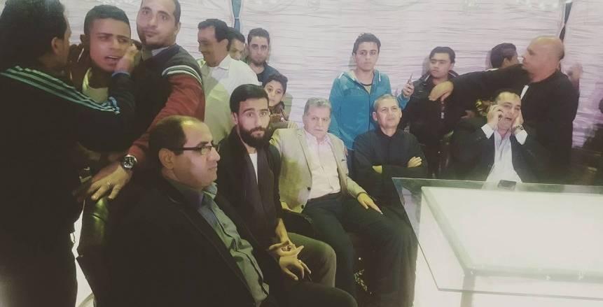 زفاف باسم مرسي في طنطا مسقط رأسه بقرية بكير