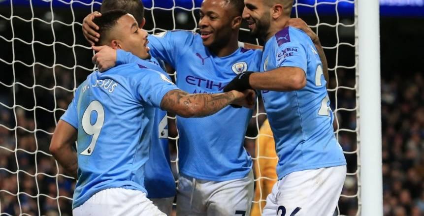 مانشستر سيتي يفوز على ليستر بثلاثية في الدوري الإنجليزي