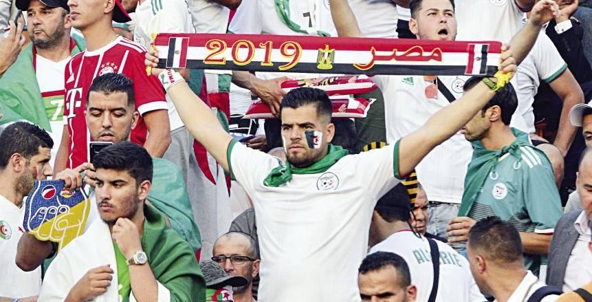مشجعو الجزائر من استاد القاهرة: أقل واجب نرفع علم مصر في النهائي