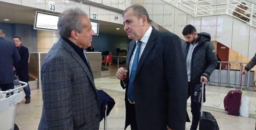 بالصور| السفير المصري بالجزائر يودِّع بعثة الأهلي قبل العودة للقاهرة