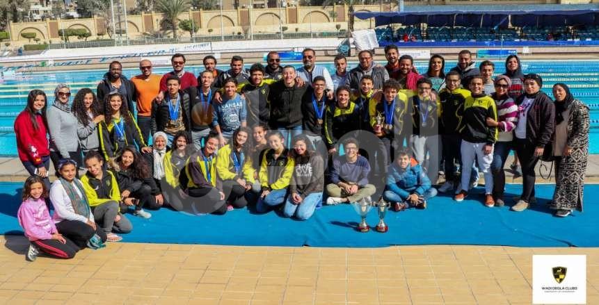 أبطال زعانف وادى دجلة يتوجون بـ 92 ميدالية في بطولة القاهرة الشتوية