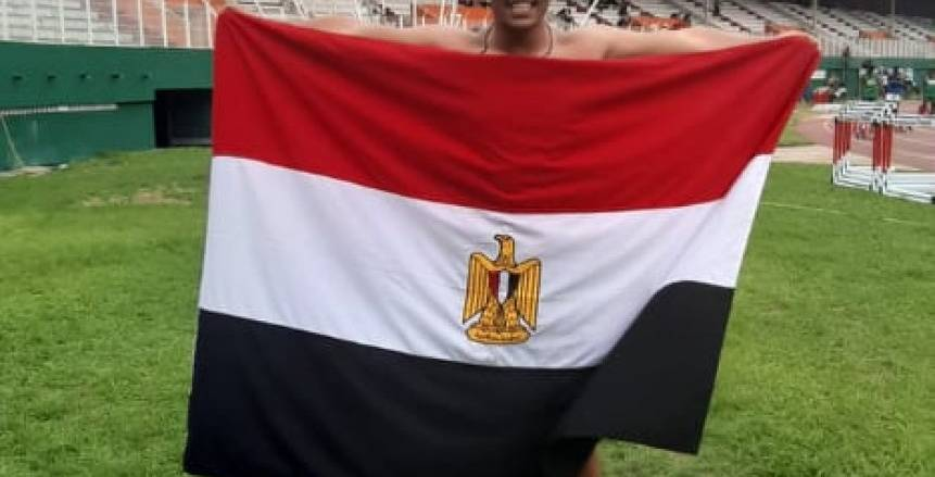 بالصور.. يوسف هشام يحصل على المركز الأول ببطولة أفريقيا لألعاب القوى