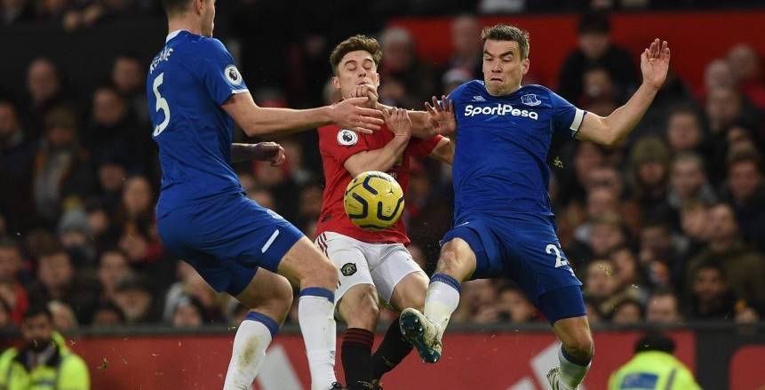 مانشستر يونايتد يسقط في فخ التعادل أمام إيفرتون في الدوري الإنجليزي