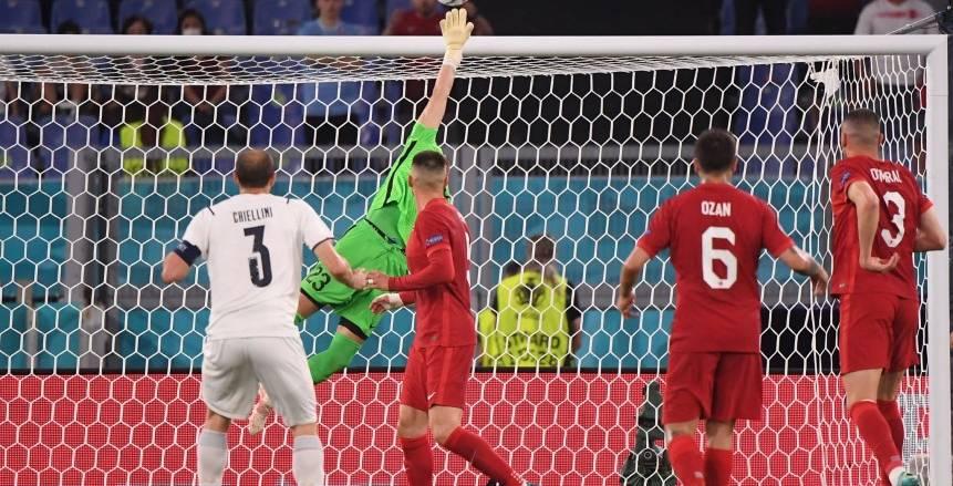 التعادل السلبي يحسم الشوط الأول بين إيطاليا وتركيا في افتتاح يورو 2020