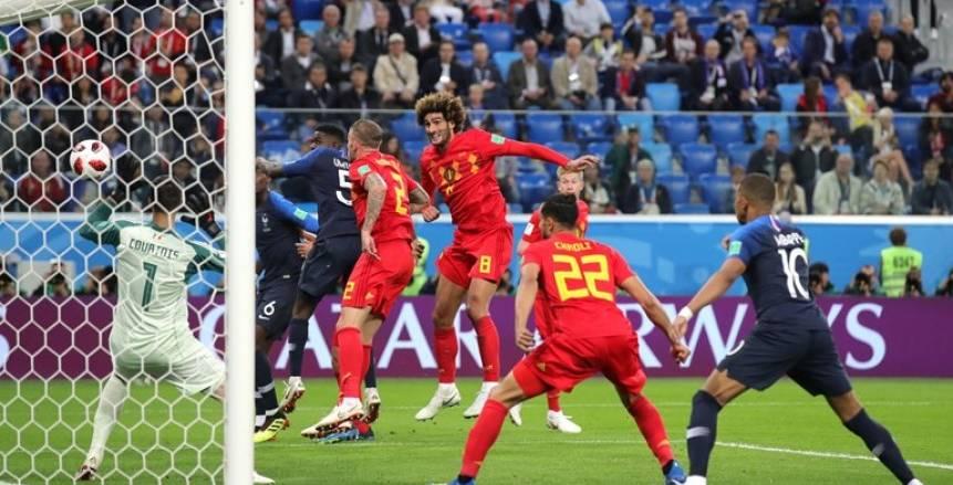 بالفيديو| فرنسا تقصي بلجيكا برأسية «أومتيتي» وتتأهل لنهائي المونديال