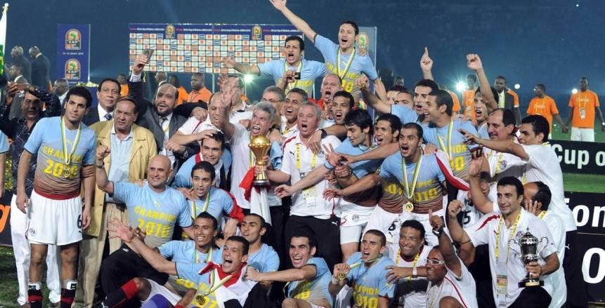 """""""العظماء السبعة للفراعنة"""".. تقرير الكاف عن تتويج مصر بـ7 بطولات أمم"""