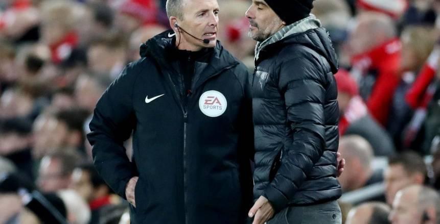 ماذا قال جوارديولا للحكام بعد مباراة ليفربول ومانشستر سيتي؟