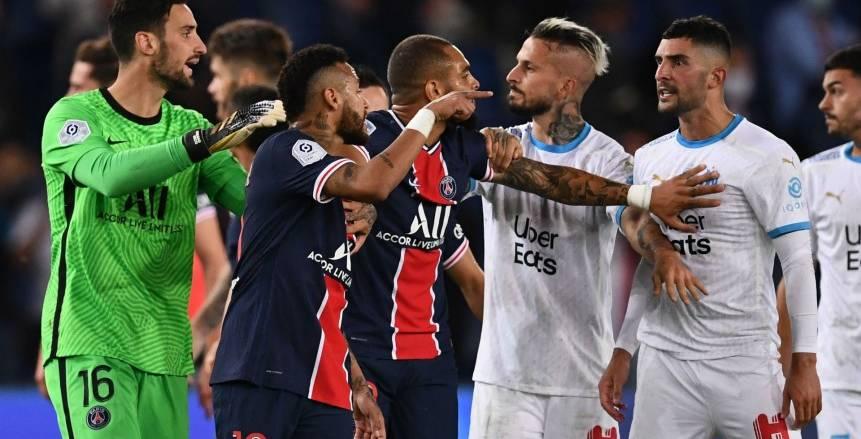 إيقاف نيمار مباراتين بعد أحداث شغب كلاسيكو الكرة الفرنسية