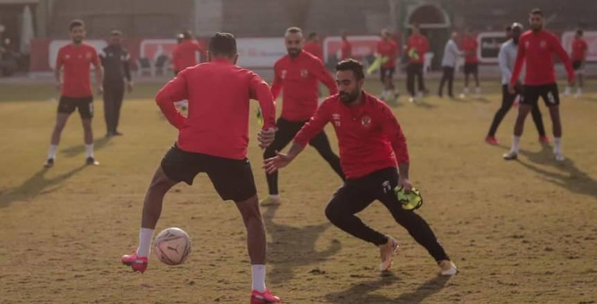 تدريبات النادي الأهلي استعدادًا لمواجهة مصر المقاصة