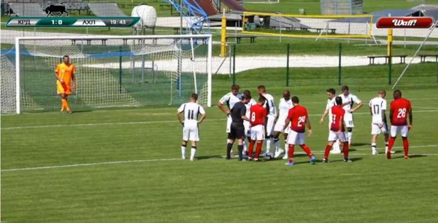 وليد سليمان يدرك هدف التعادل للأهلي أمام كراسنودار