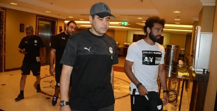 بالصور| لحظة وصول محمد صلاح للمنتخب واللاعب يشارك بالتدريب المسائي