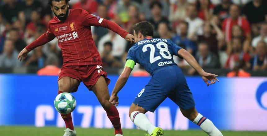 جيرو يحرز الهدف الأول لتشيلسي في مرمى ليفربول بمباراة السوبر الأوروبي