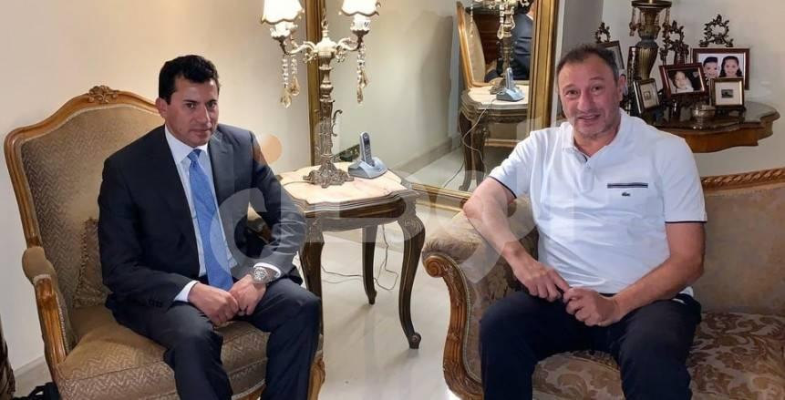 رئيس الزمالك عن زيارة وزير الرياضة للخطيب: