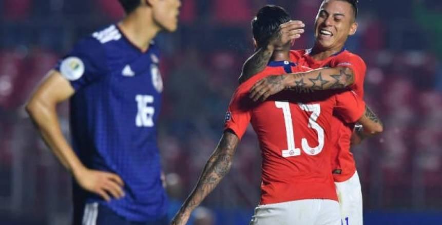 """بالفيديو  تشيلي تسجل الهدف الثاني في مرمى اليابان بـ""""كوبا أمريكا"""""""