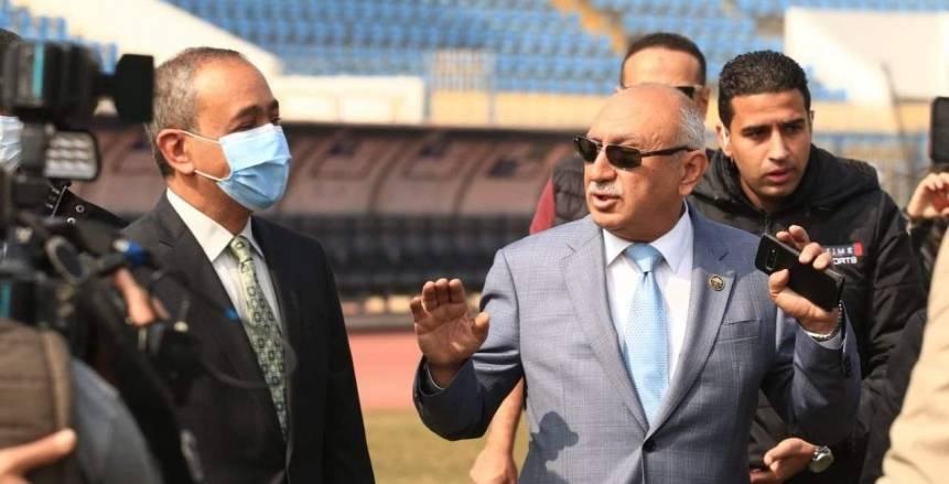 محافظ الإسماعيلية يؤازر الدراويش قبل لقاء الاتحاد