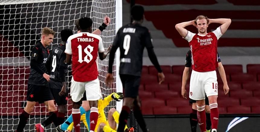 أرسنال يتعثر أمام سلافيا براج في الدوري الأوروبي بمشاركة محمد النني