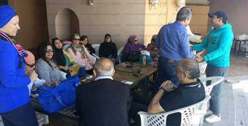 بالصور| في جو أسري قائمة الخطيب تستعرض برنامجها الانتخابى مع اعضاء أهلى مدينه نصر