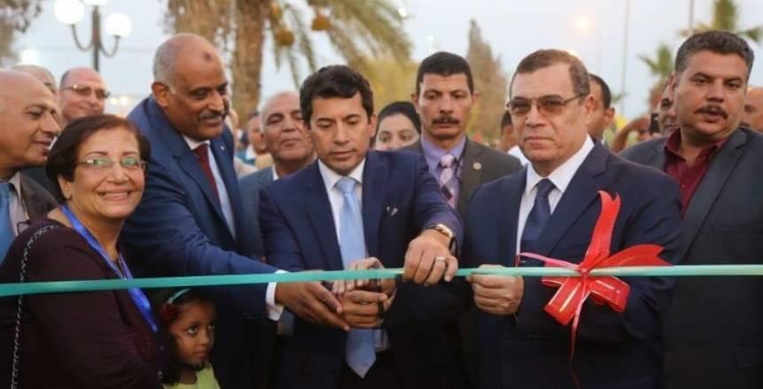 أشرف صبحي يفتتح تطوير قاعة مؤتمرات الشباب والرياضة.. ويلتقي شباب كفر الشيخ